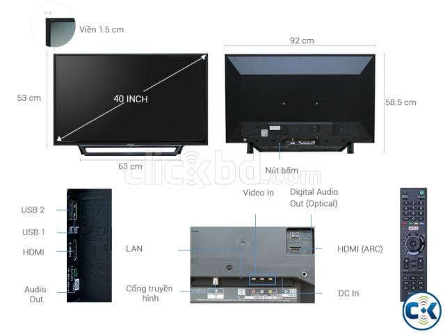 Sony Bravia Smart HDR W660E 40 Full HD 1  | ClickBD large image 3