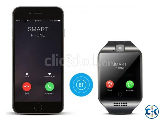Q18 Smart Watch in BD Single Sim Gear | ClickBD large image 2