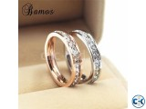 Golden silver Alloy Finger Ring Couple