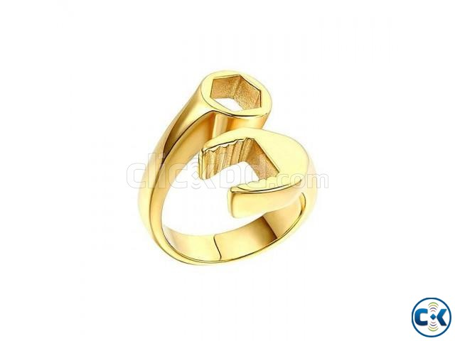 Golden Alloy Finger Ring for Women | ClickBD large image 0