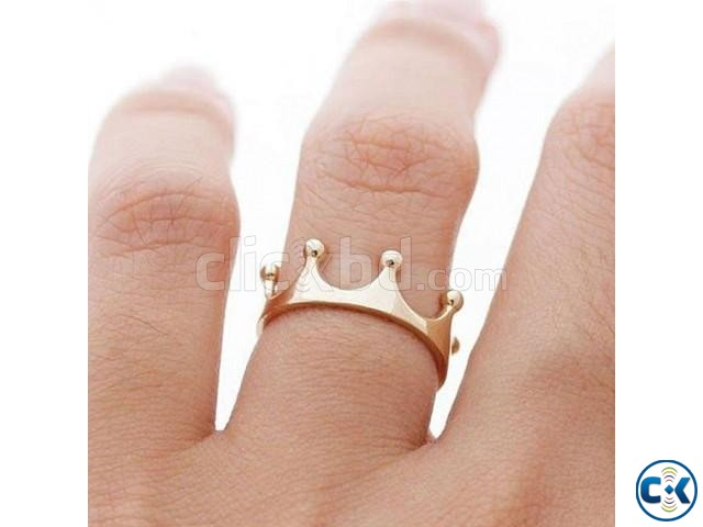 Golden Steel Finger Ring | ClickBD large image 0