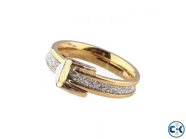 Golden Steel Finger Ring for Women   ClickBD large image 0