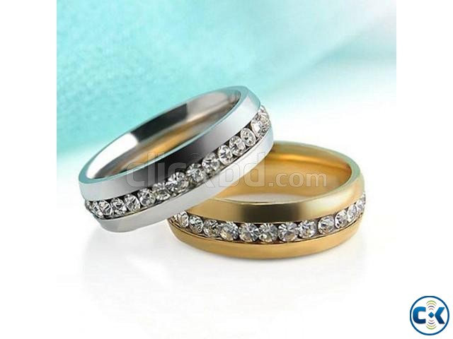 Golden and Silver Alloy Finger Ring | ClickBD large image 0