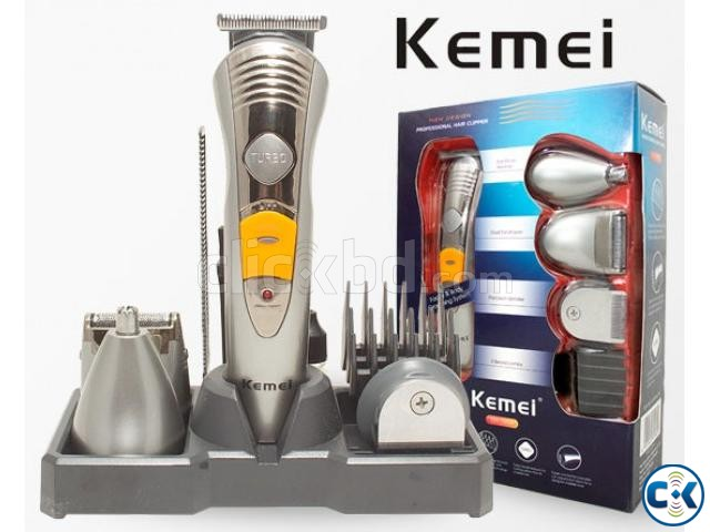 Kemei KM-580A Cordless 7-in-1 Rechargeable Hair Trimmer | ClickBD large image 0
