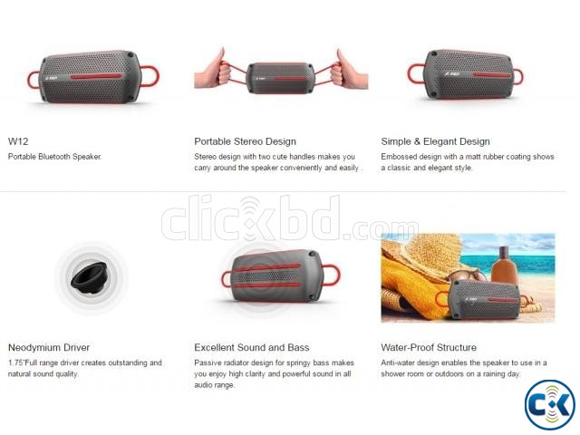 F D W12 Portable Bluetooth Water-Proof Wireless Speaker | ClickBD large image 1