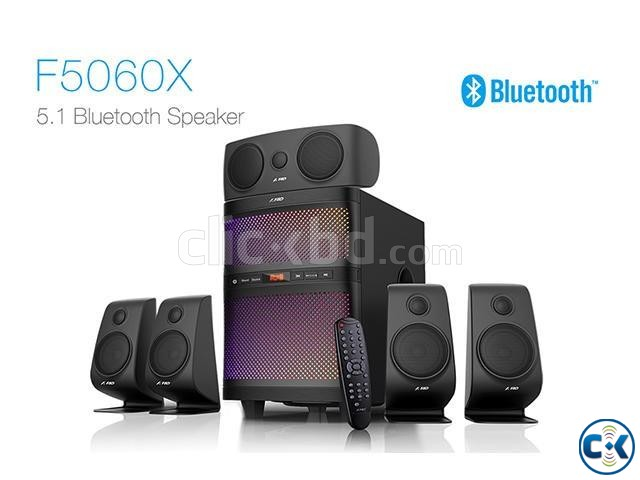 F D F5060X Bluetooth NFC 5.1 Home Audio Multimedia Speaker | ClickBD large image 1