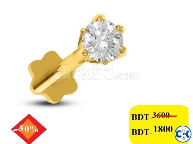 Diamond With Gold nose pin 50 off | ClickBD large image 0