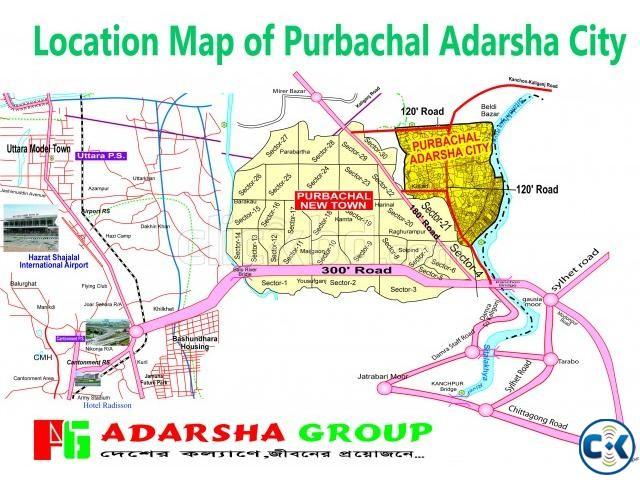 3 Katha Plot at Purbachal Adarsha City | ClickBD large image 0