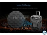 F D T2 Bluetooth 4.2 FM Crystal Sound Trolley Speaker