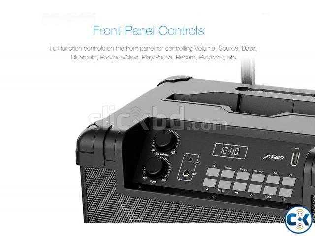 F D T2 Bluetooth 4.2 FM Crystal Sound Trolley Speaker   ClickBD large image 2