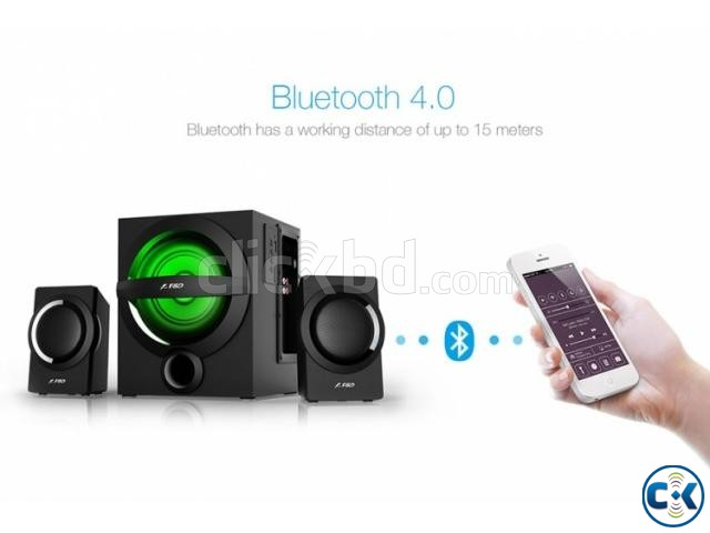F D A140X Black Bluetooth 4.0 Audio Streaming 2 1 Speaker | ClickBD large image 0
