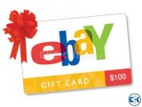 eBay Gift Card 100 USA Account and Shipping Only