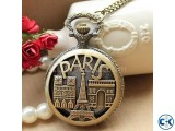 Paris Souvenir Vintage Pocket Watch Men Women Gifts