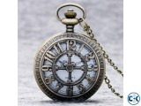 Fashion Number Hollow Quartz Pocket Watch