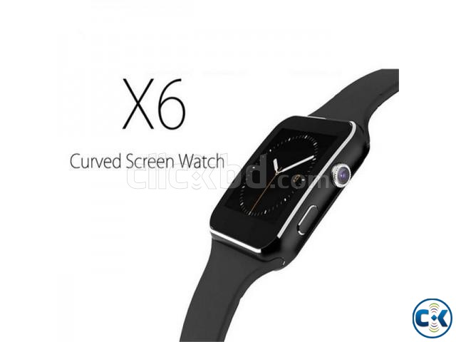 X6 smart Mobile watch Phone carve display intact Box Sim  | ClickBD large image 1