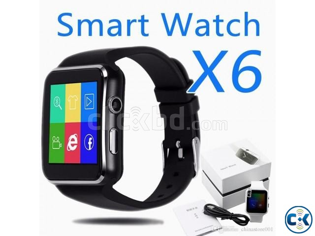 X6 smart Mobile watch Phone carve display intact Box Sim  | ClickBD large image 2