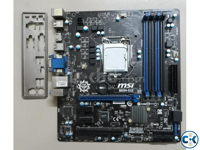 Core i3 i5 i7 Motherboard MSI B85M-E45 | ClickBD large image 0