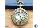 Mechanical Bronze Vintage Pocket Watch Men Women Gift