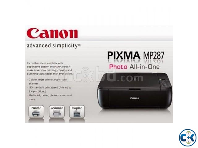 Canon MP287 All In One Colour Inkjet Printer | ClickBD large image 2