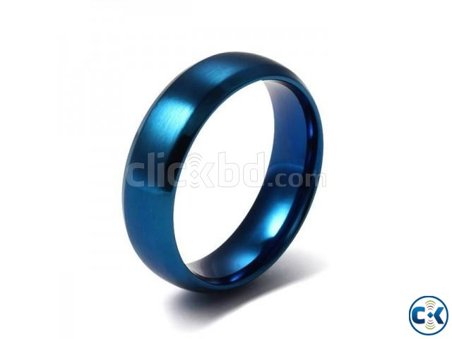 Blue Finger Ring for Men | ClickBD large image 0
