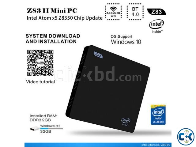 Z83II Intel Atom x5-Z8350 64bit Win10 Mini PC 2GB DDR3 RAM U | ClickBD large image 0
