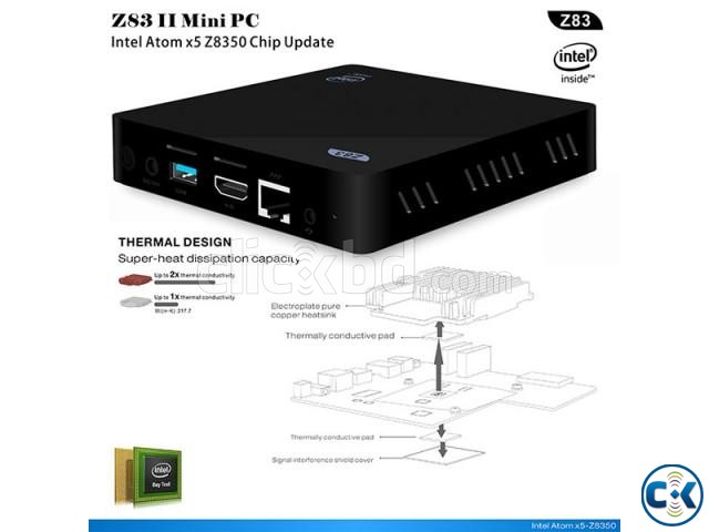Z83II Intel Atom x5-Z8350 64bit Win10 Mini PC 2GB DDR3 RAM U | ClickBD large image 4