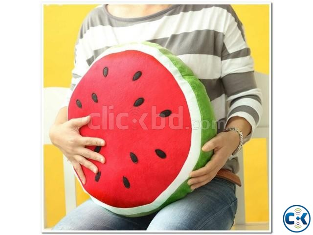 3D Watermelon Pillow Creative Cushions For car office decore | ClickBD large image 2