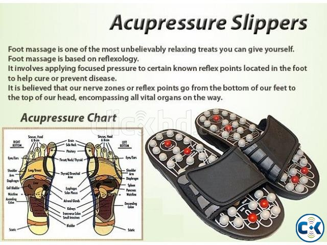 Acupuncture Massage Reflexology Slipper | ClickBD large image 1
