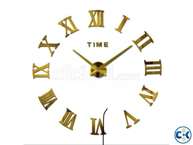 Very Gorgeous GOLDEN Mirror Fasion Big Wall clock | ClickBD large image 0
