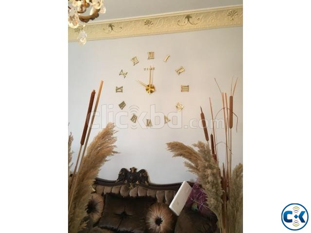 Very Gorgeous GOLDEN Mirror Fasion Big Wall clock | ClickBD large image 1