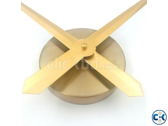 Very Gorgeous GOLDEN Mirror Fasion Big Wall clock | ClickBD large image 3