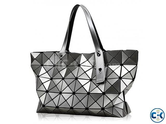 Laser Geometric Handbag Colors Shoulder bag for girls   ClickBD large image 0