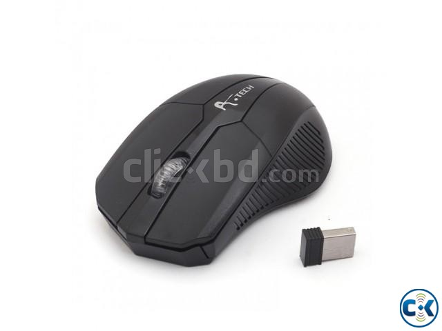 A.Tech 2.4G Wireless Mouse Black  | ClickBD large image 0