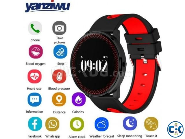 CF008 Smart Watch in BD Heart Rate Blood Pressure Water-Proo | ClickBD large image 1