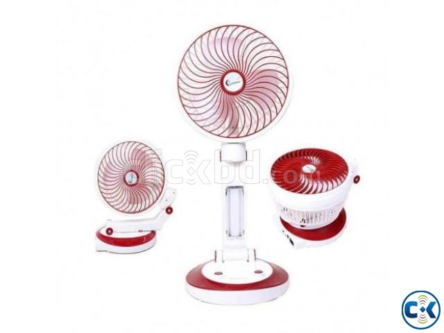 Supermoon Rechargable Fan with Light 01618657070 | ClickBD large image 0