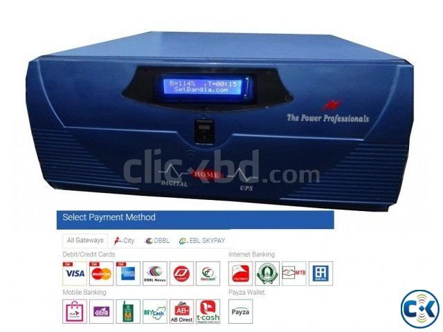 DSP Pure Sine Wave Digital IPS UPS 400VA | ClickBD large image 0