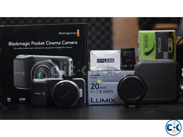 Black magic pocket cinema camera with accessories | ClickBD large image 0
