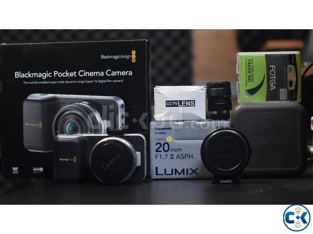 Black magic pocket cinema camera with accessories | ClickBD large image 0
