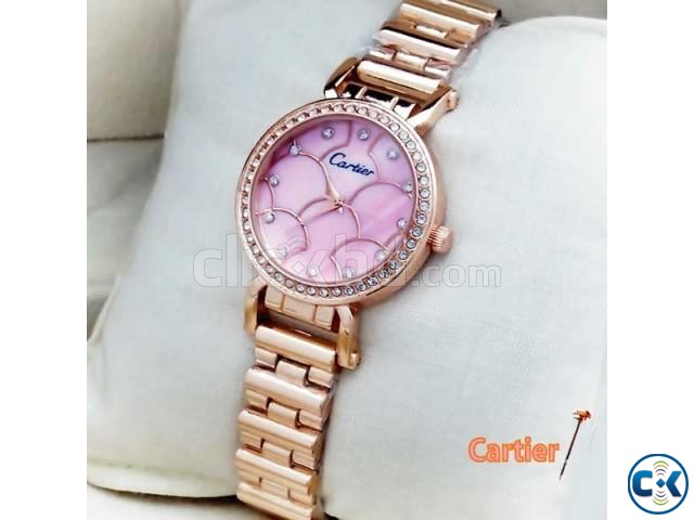 Cartier Pink Womens Wrist Watch | ClickBD large image 0