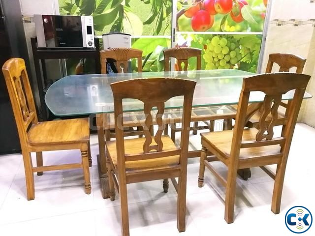 Dining Table with Six Chair | ClickBD large image 0