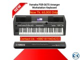 Yamaha PSR S670 61-Key Arranger Workstation Keyboard.