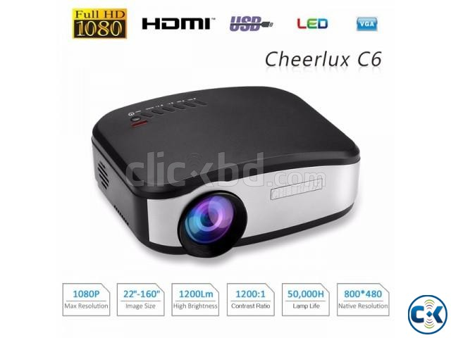 CHEERLUX C6 Projector Portable LED | ClickBD large image 0