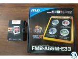AMD A8-5600K Trinity 3.6GHz MSI FM2-A55M-E33