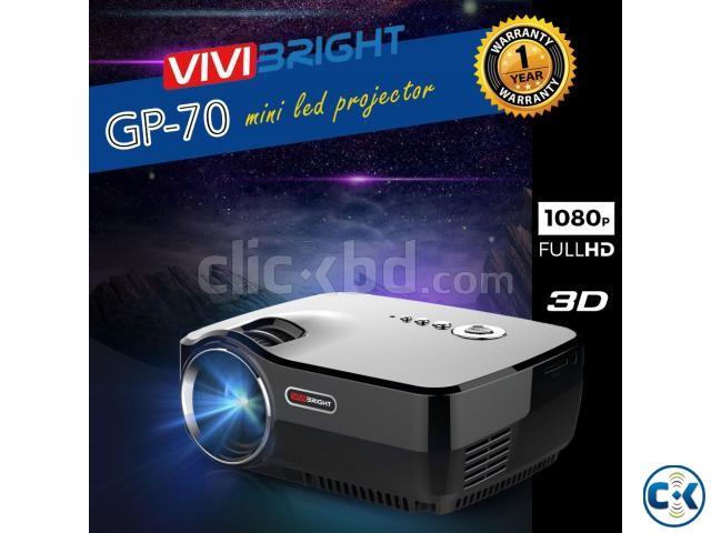 Vivibright GP70 Multimedia Projector 3D Projector Projector   ClickBD large image 0