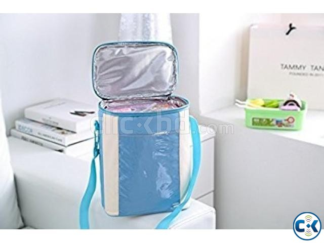 Insulated Lunch Carrier Waterproof Bag for School Office | ClickBD large image 4