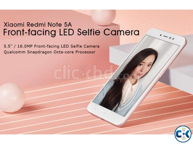 Brand New Xiaomi Note 5A 16GB Sealed Pack With 3 Yr Warrnty | ClickBD large image 1