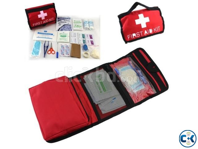 Emergency First Aid Kit Bag for Car Home Traveling Camping | ClickBD large image 0