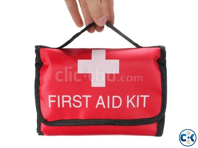 Emergency First Aid Kit Bag for Car Home Traveling Camping | ClickBD large image 1