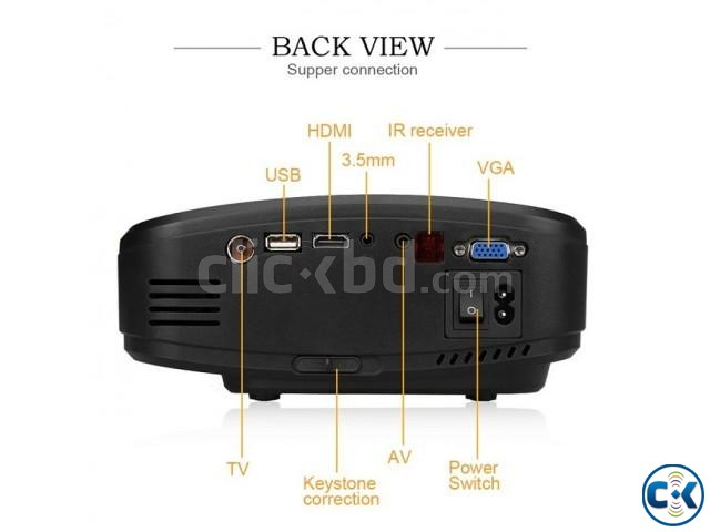 Cheerlux C6 Mini LED Projector With built-in TV Card | ClickBD large image 2