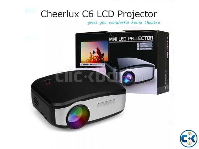 Cheerlux C6 Mini LED Projector With built-in TV Card | ClickBD large image 3